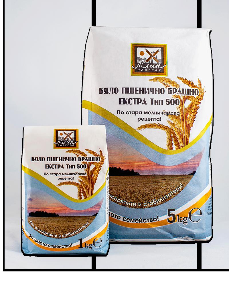White wheat flour extra type 500